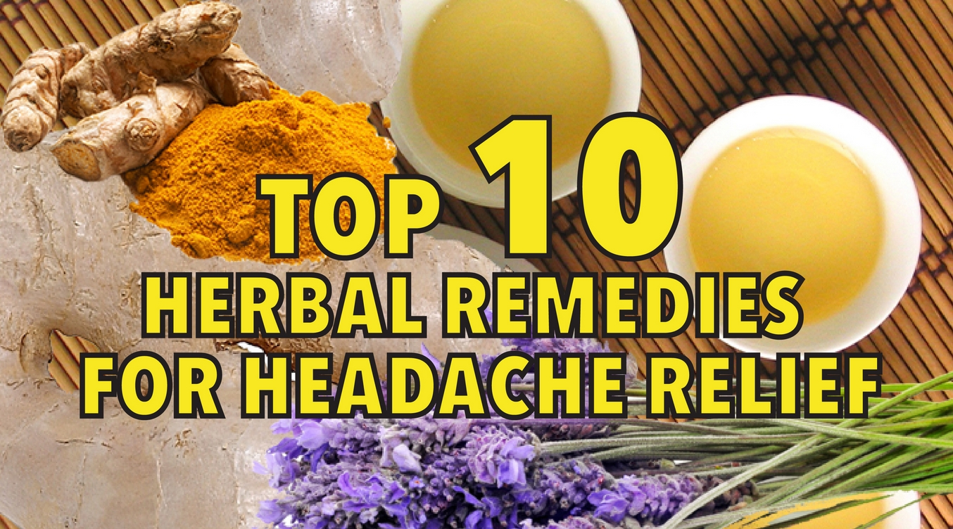 Top 10 herbal remedies for headache relief